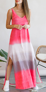 Women Watermelon Split Maxi Dress