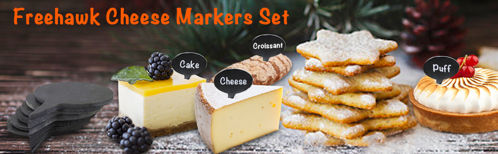 Freehawk Cheese Markers Set