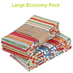N3490 Set of 4 - - Ikat Green Flower Modern Reusable Fabric Napkins Large Cloth Napkins