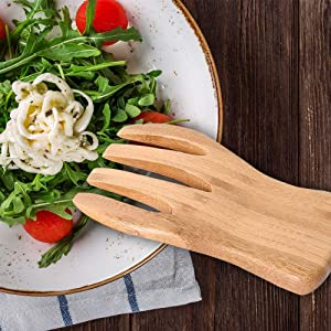 Wood Salad Tongs For Serving