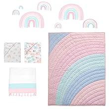 Watercolor Pastel Crib Bedding Set