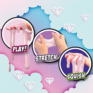 Amazon Com Wengie Whimsical Scented Slime Kit W Mystery Unicorn Charm 4 Pack Glossy Fluffy Puffy Cloud Fruity Slime For Girls Boys Stem Educational Stress Relief Squishy Party Favors For