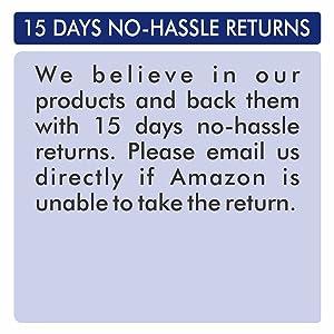 15 Days no hassle returns by Lumino Cielo