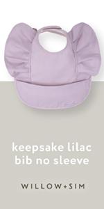 Willow + Sim keepsake lilac no sleeve bib
