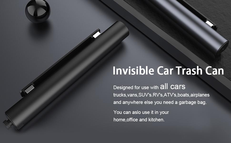 Invisible car trash can