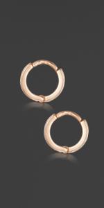 Rose Gold Plated Sleeper Earrings 18mm