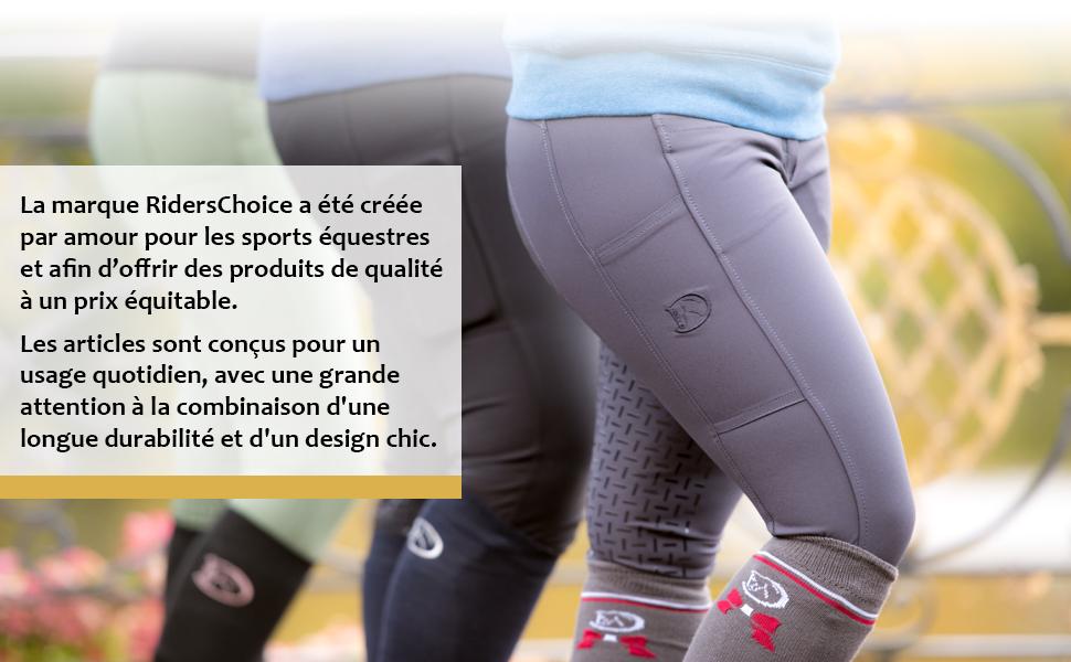 pour Femmes avec Garniture compl/ète en Silicone RidersDeal Collection pour Les Cavaliers RIDERS CHOICE Jambi/ères d/'/équitation Leggings