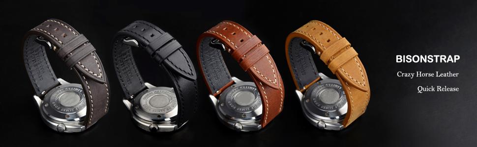 cintura orologio uomo pelle