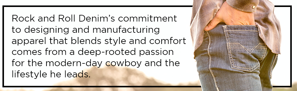 rock and roll denim's commitment to designing and manufacturing apparel comes from modern-day cowboy