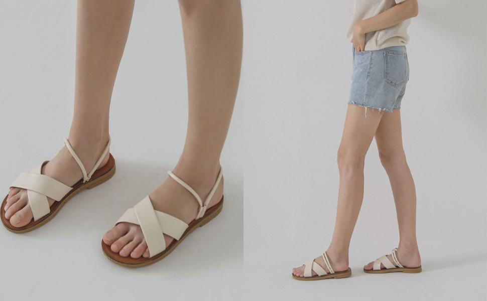 Chaakan Women's Flat Sandals Slide Sandals
