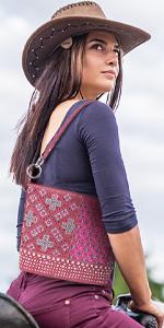 Montana West Concealed Carry Hobo Shoulder Bag Western Embroidered Floral Rhinestone Leather handbag