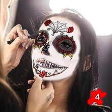 Halloween Temporary Face Tattoos Kit