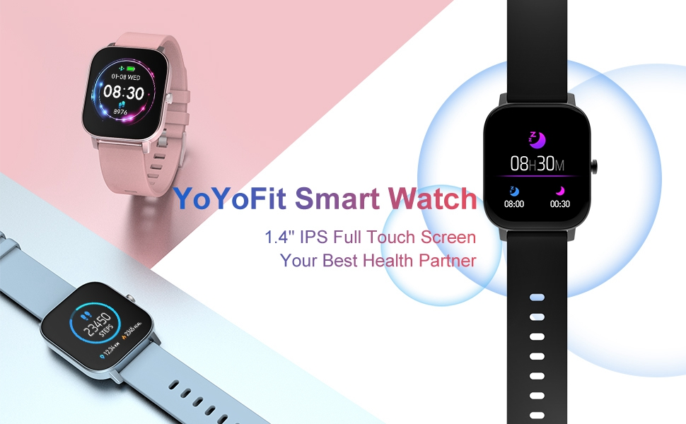 """updated 1.4"""" full touch screen fitness tracker"""