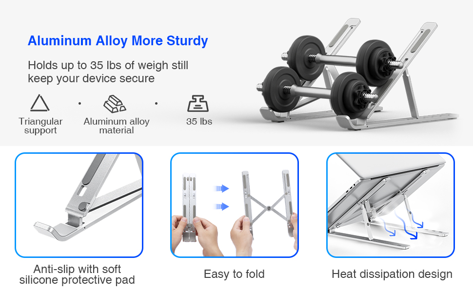 notebook stand apple macbook premium alloy metalic travel portable height raising stand for laptop