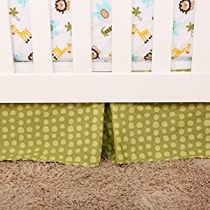 crib bed skirt dust ruffle