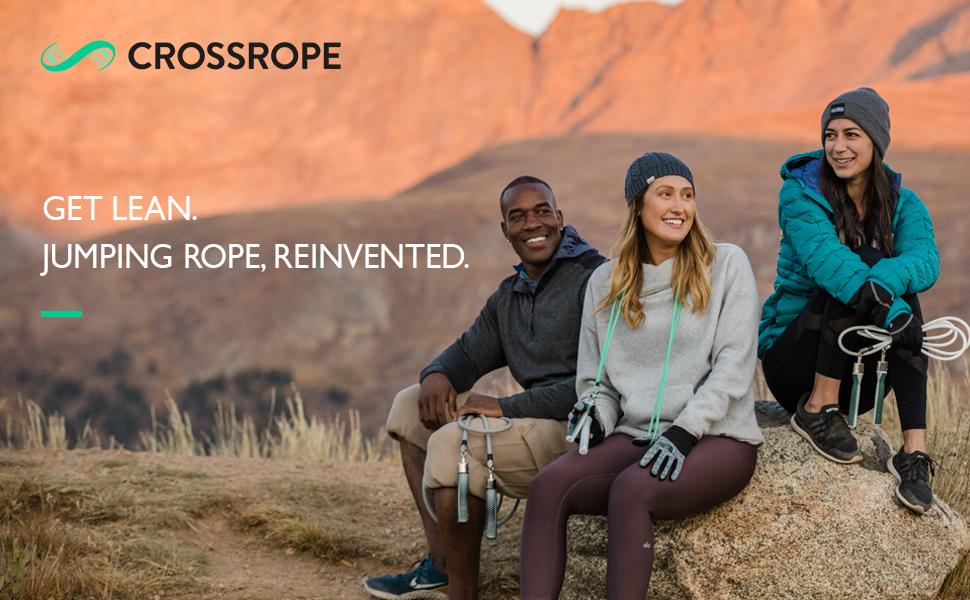 Crossrope Jump Rope Get Lean Set-Vitesse S Utilisateur hauteur 1.45 m - 1.63 m 2.44 m