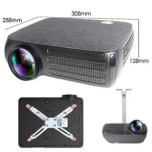 instalacion a techo compatible mediante soporte universal unicview proyector portatil videoproyector