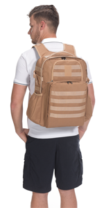 Brown Military Backpack