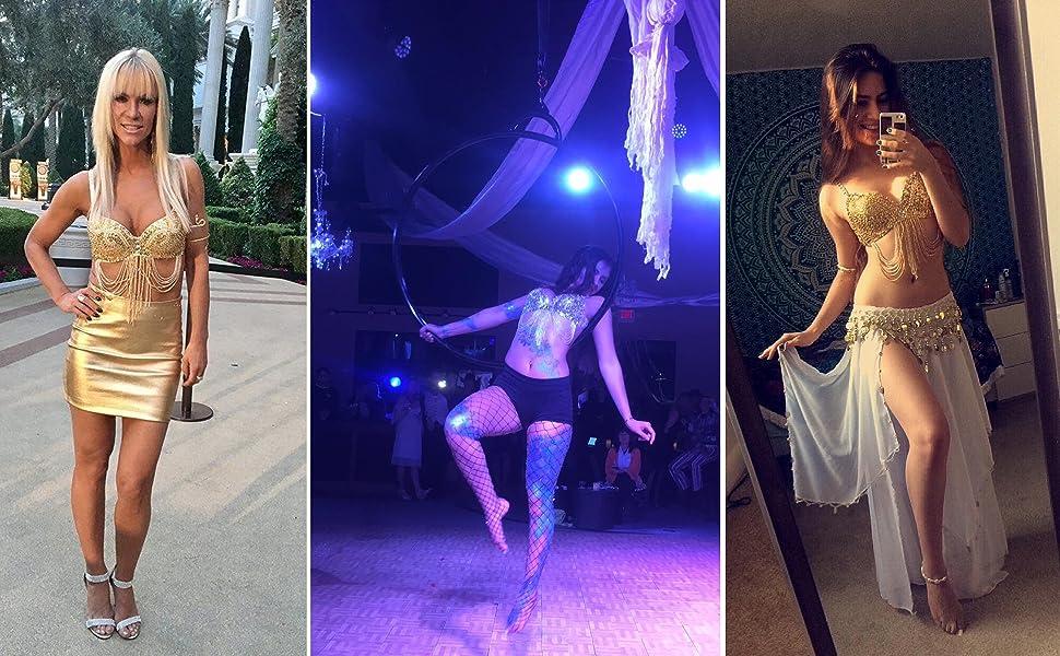 Details about  /Purple sequins sequins tassel costume bikini bra shorts stage performance set