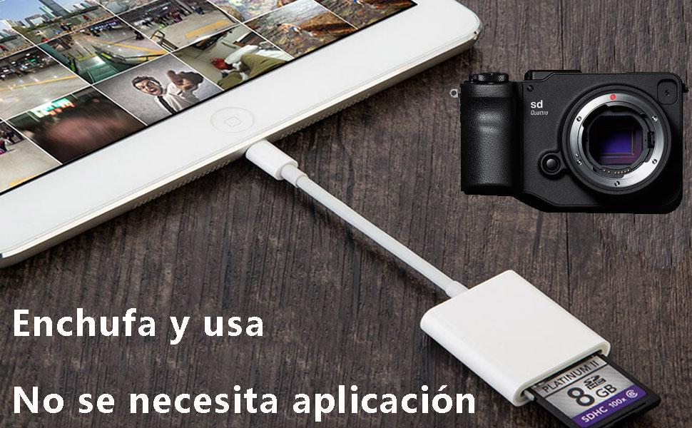 Lector de Tarjeta de Cámara Visor para Phone Pad, SD Adaptador ...