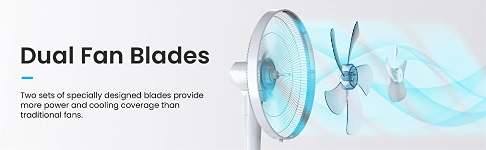 Pro Breeze Pedestal Floor Fan AC Air Conditioning Tower Cooling Fan Home Office Bedroom