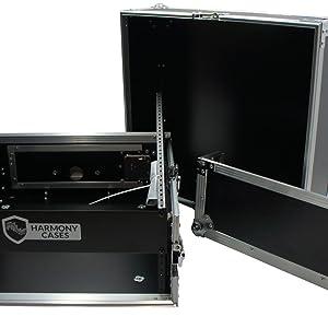 Harmony Cases HCM2U DJ Pro Audio 10U Slant Top 4U Vertical Mixer Rack Case New
