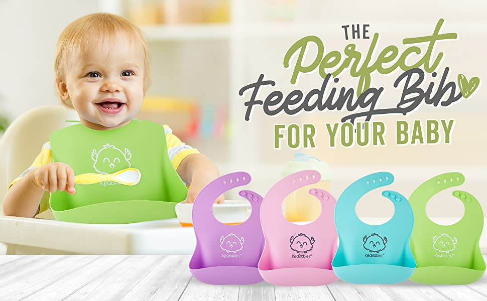silicone bib bibs babies baby silicon toddlers waterproof feeding pocket food catching boys girls