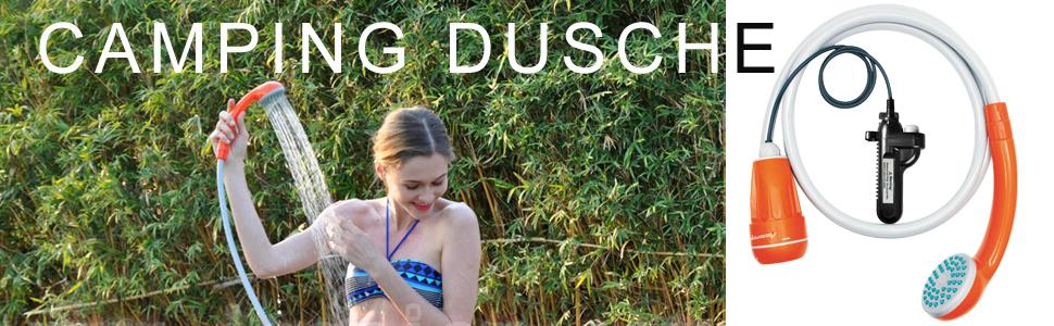 cineman Tragbare Camping Dusche Au/ßen Camp Dusche Tasche Mit Press-Typ Spritzd/üse F/ür Garten Reisen Autow/äsche Strand Schwimmen Sommer-Baden