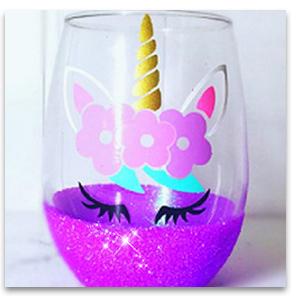 glitter for wine glass