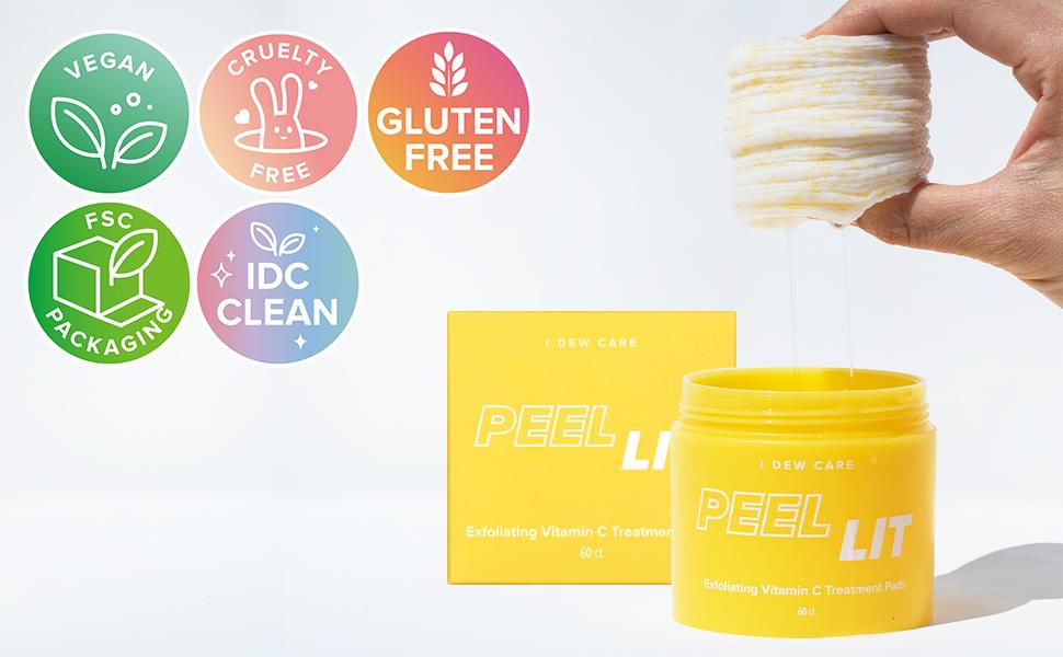 Peel Lit-Pineapple-Exfoliation-Toner Pad-Vitamin C- Exfoliating Peel Pad - Vegan - Cruelty free