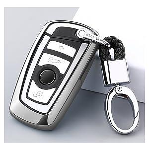 Ontto Autoschlüssel Hülle Für Bmw 1er 3er 4er 5er 6er 7er F10 F20 Und X3 X4 M5 M6 Gt3 Gt5 Fernbedienung Cover Tpu Silikon Schlüsselhülle Schlüsselanhänger Schlüssel Schutz Etui 3 4 Tasten