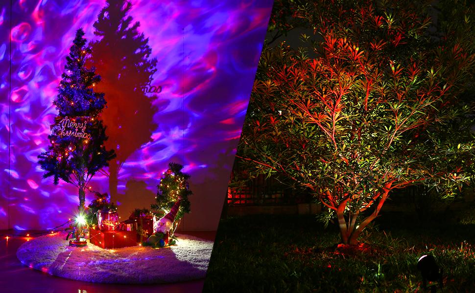 Finether Luz de Proyector LED Océano Decoración Interiores y ...
