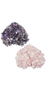 natural crystal chips stone amethyst rose quartz