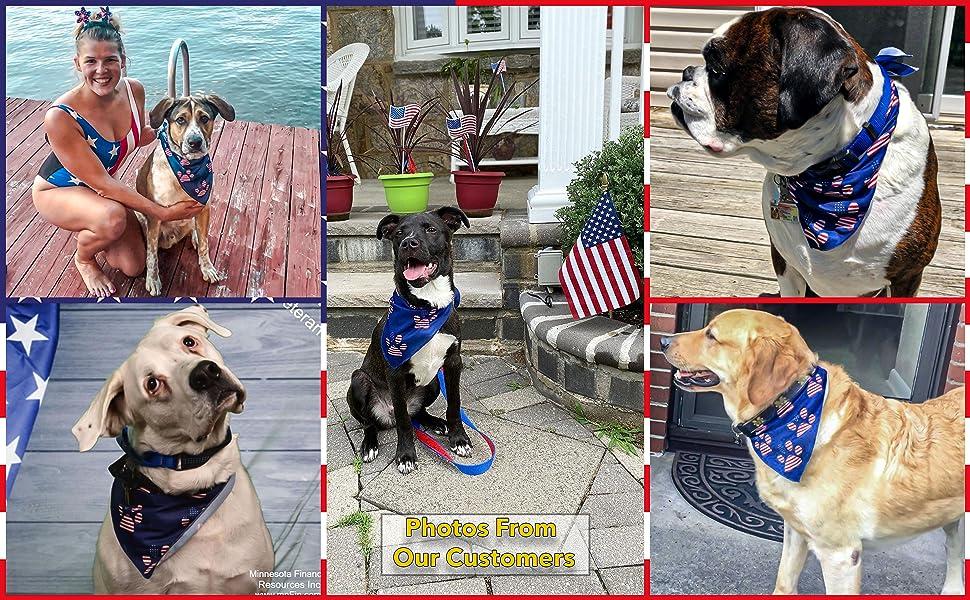 american flag dog collar bandana fourth 4th of july patriotic bandanas for large medium small dogs