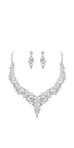 vintage pearl jewelry set for wedding