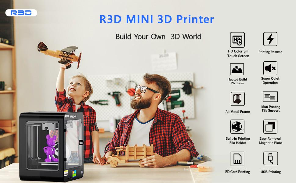 R3D MINI 3DPrinter Use Scene