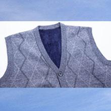 Men's V-Neck Sweater Vest Mens Cashmere Blended Knit Sleeveless Vest Mens Cardigan with Front Button
