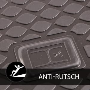 Sixtol Auto Kofferraumschutz Für Den Peugeot 3008 Maßgeschneiderte Antirutsch Kofferraumwanne Für Den Sicheren Transport Von Einkauf Gepäck Und Haustier Auto
