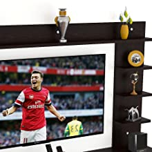 DAS Engineered Wood TV Entertainment Wall Unit/Set Top Box Stand wall shelf Ambienc 43 inches screen