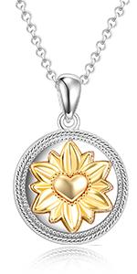 sunflower urn locket