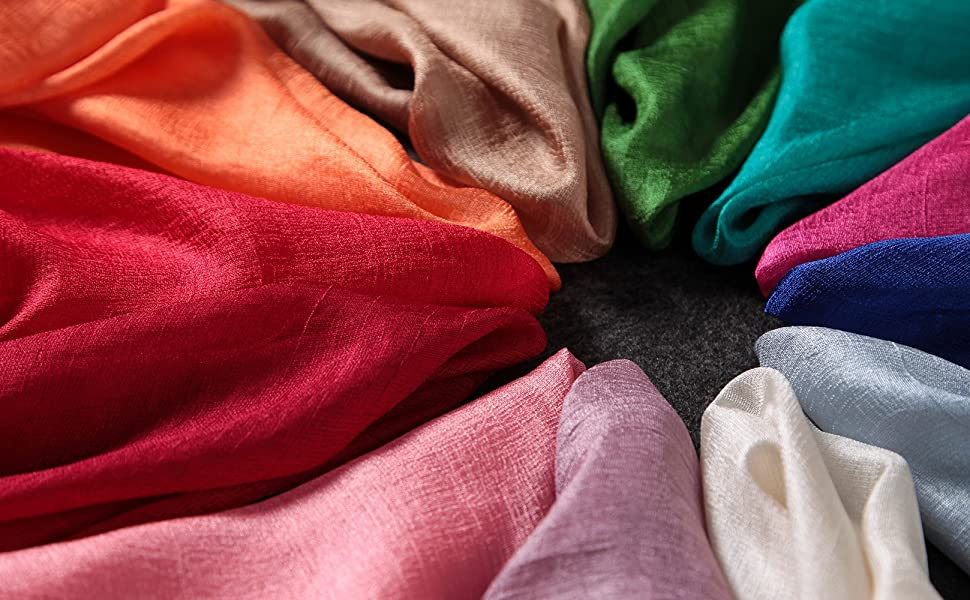 Scialle Stole sciarpa per Donne  Stola Rosa blu navy avorio nero viola grigio giallo vino rosso