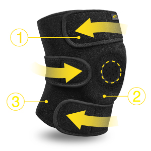Bracoo KS10 knee support rodillera ortopedica brace stabilizer sleeve open