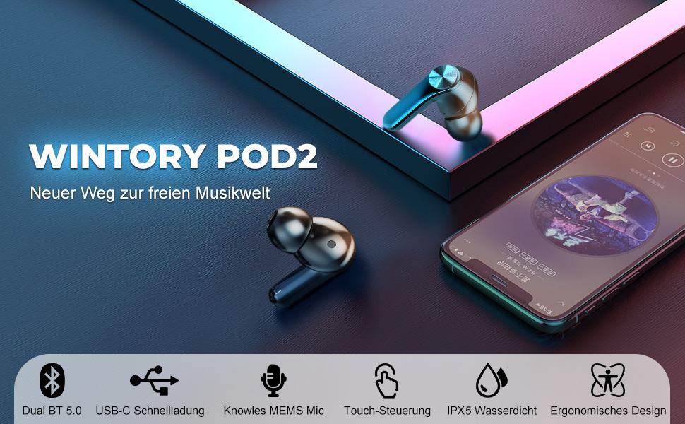 Wintory POD2 true wireless in ear kopfhörer