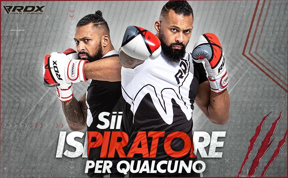 RDX Pelle Guantoni Da Boxe MMA Formazione Lotta Sparring Boxe Kickboxing F15MB