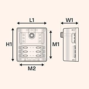 Amazon.com: 6 Way Fuse Box with Ground Negative Bus for Automotive [Dual  Positive Inputs] [12V - 32V DC] [180 Amp] [ATC/ATO Fuses] [LED Indicator]  [Corrosion Resistant] Auto Marine Fuse Block: AutomotiveAmazon.com