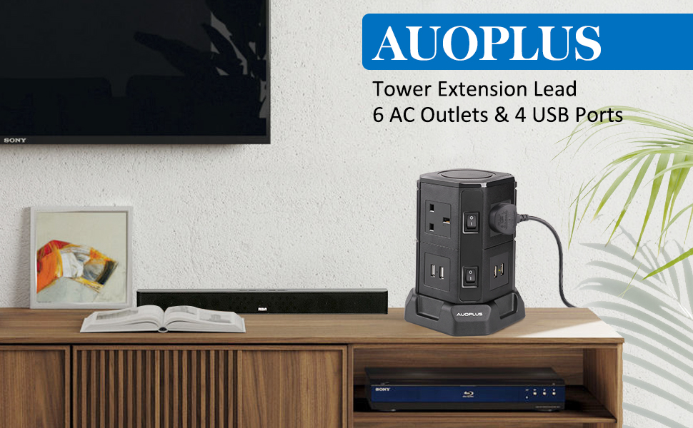 6 Way Extension Lead Tower