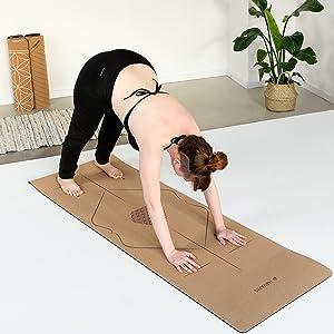 Inclusief kurk yogamat en schouderriem