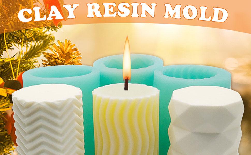 Herzf/örmige Kreative Stereo Kerzen-Form Kunststoffform Seife Formen 3D Kerzen Gie/ßformen Kerzenform zum Gie/ßen Craft DIY Kerze Aromatherapie Mold f/ür Paraffin Wachs Bienenwachs