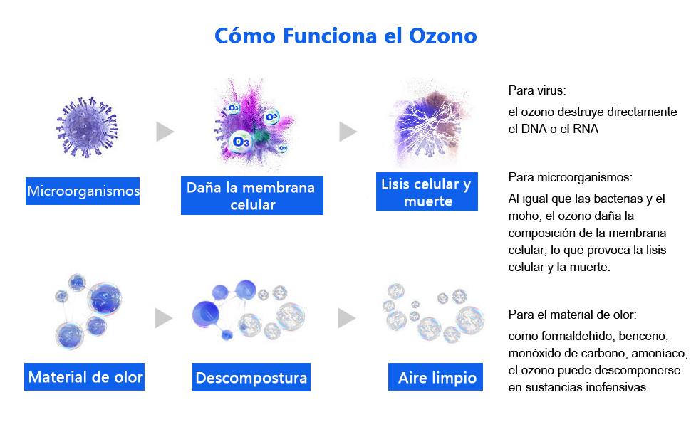 CAMECHO Mini generador de ozono Esterilizador Wirelss Purificador ...