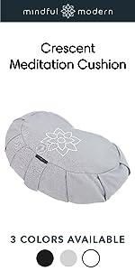 Crescent Meditation Cushion